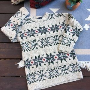 Vintage Hand Knit Chunky Nordic Sweater